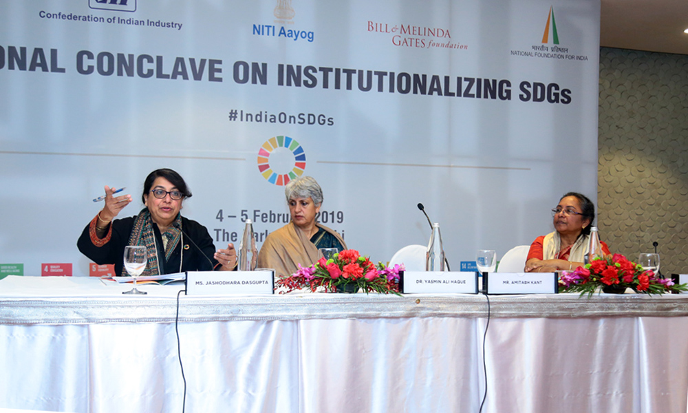 Ms Jashodhara Dasgupta, Dr Yasmin Ali Haque, and Ms Annie Namala