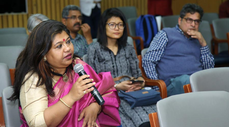Monica Bannerjee interacting with the panellists